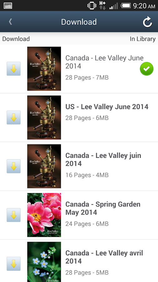 Lee Valley Library- screenshot