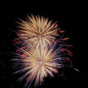 Fireworks II by Brenda Hooper - Abstract Fire & Fireworks ( abstract, fireworks,  )