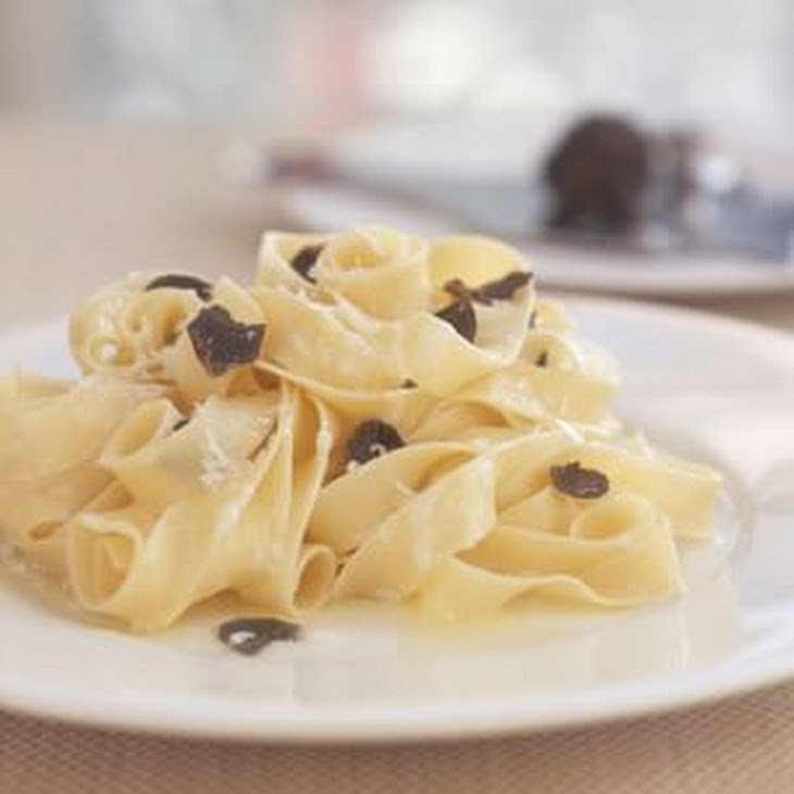 Fettuccine with Black Truffles Recipe