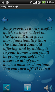 Sony Xperia Z Phone Tips - screenshot thumbnail