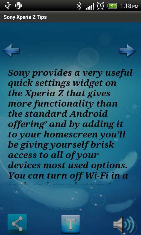 Sony Xperia Z Phone Tips - screenshot