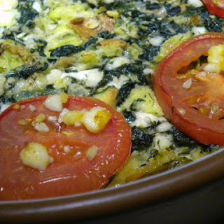 Spinach and Feta Bread Pudding.