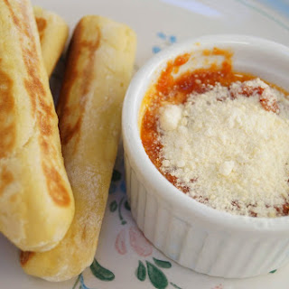 Cheese-Stuffed Bread Sticks.