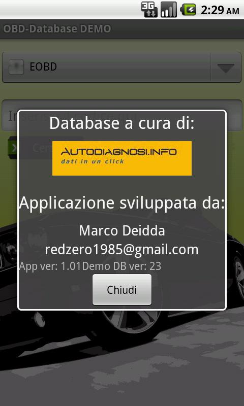 OBD-Database Italiano DEMO- screenshot