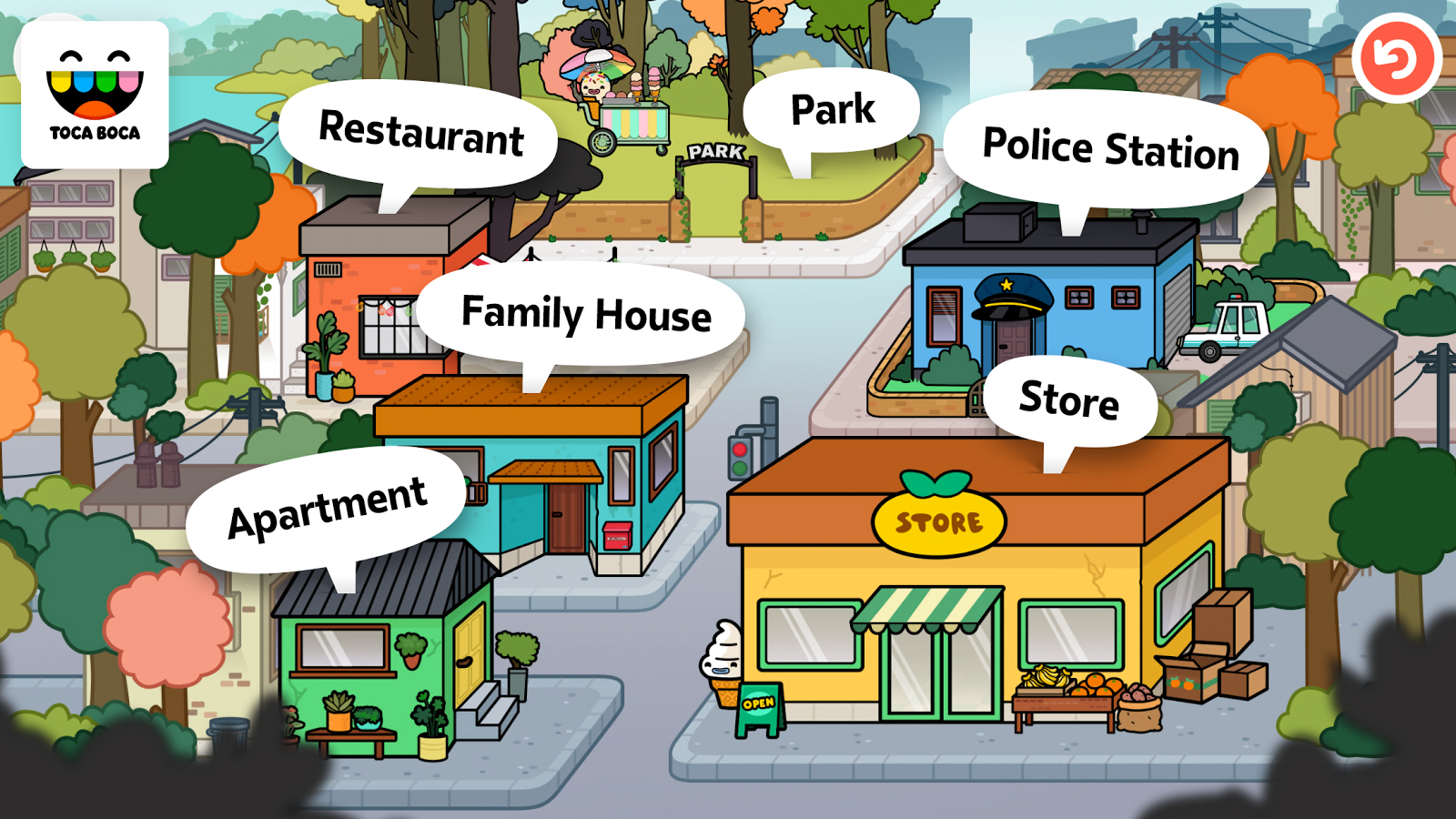 Screenshots of Toca Life: Town for iPhone
