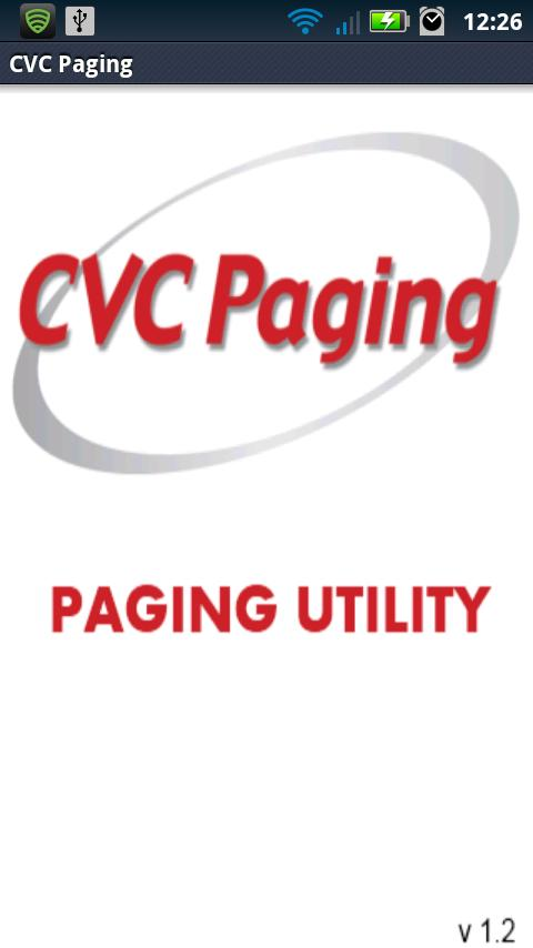 CVC Paging Paging Utility- screenshot