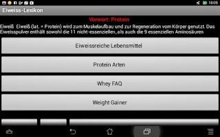 Screenshot of Eiweiss-Ratgeber App
