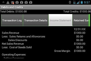 Screenshot of Debits and Credits Trainer