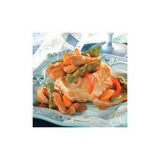 Gingered Pork and Vegetable Shells