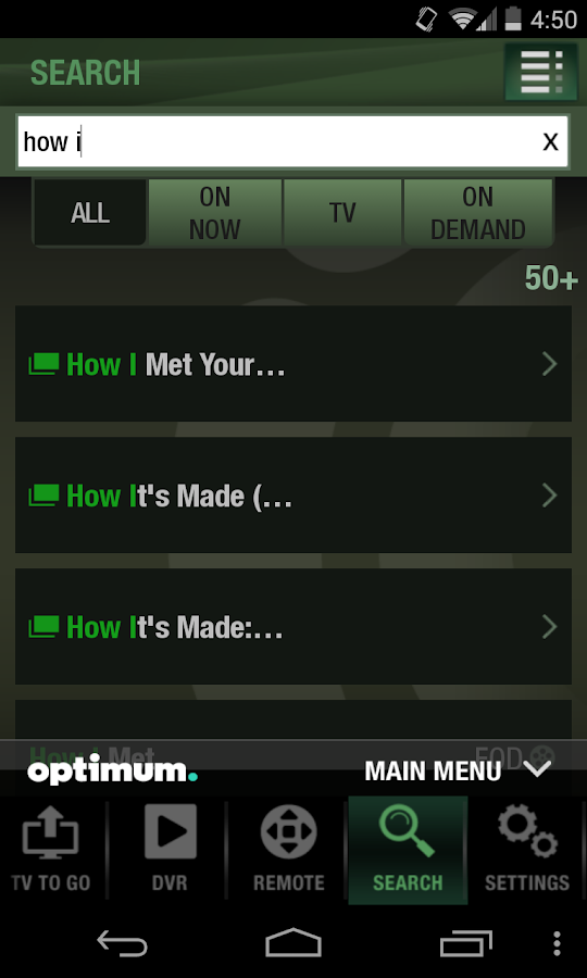 Optimum - screenshot