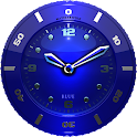 Clock Widget blue HQ