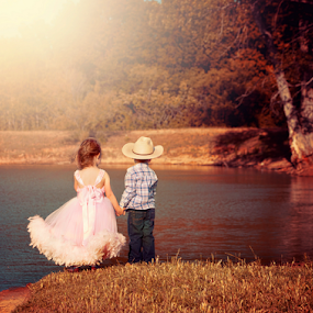 Young Love - Shawnessy Ransom Photography © 2014 by Shawnessy Ransom - Babies & Children Children Candids ( childhood crush | young love | cutest kids ever | child photography | cowboy | first love )
