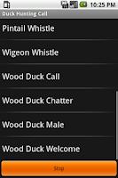 Screenshot of Duck Hunting Call