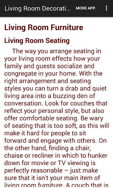 Living room decorating ideas apps on google play for Design your living room app