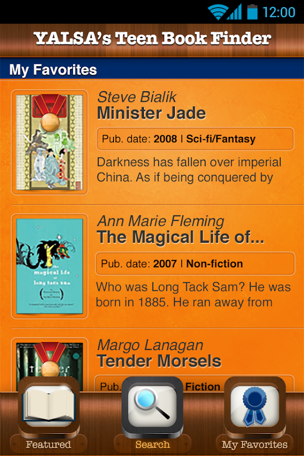 YALSA's Teen Book Finder- screenshot