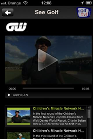 Golf TV - screenshot