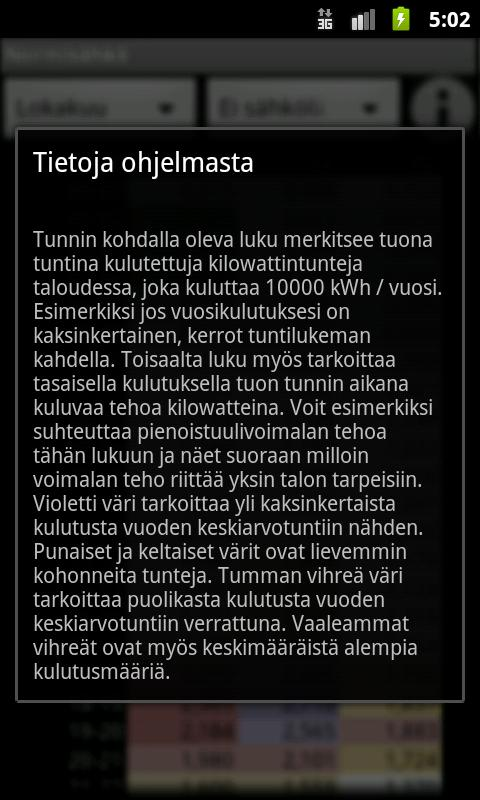 Normisähkö- screenshot