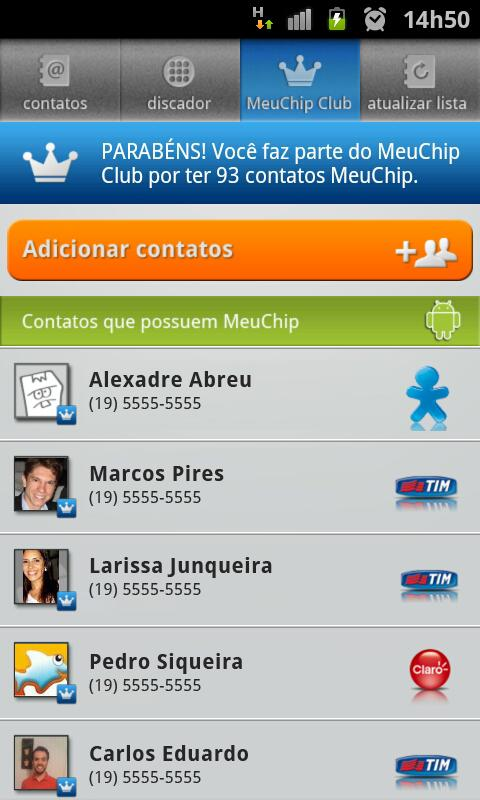 Discador MeuChip - screenshot