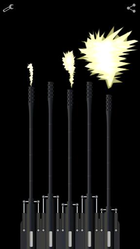 candle machine gun