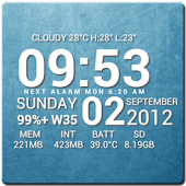 Super Typo Weather Info Clock