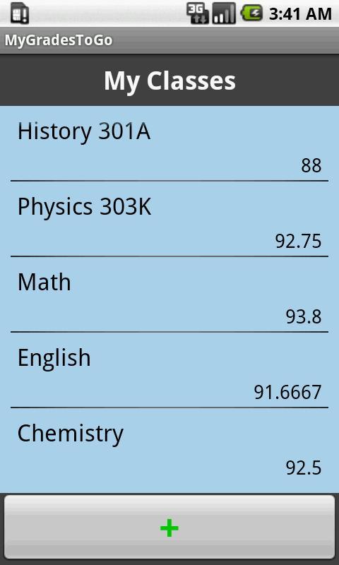 My Grades To Go- screenshot