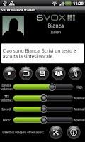 Screenshot of SVOX Italian Bianca Trial