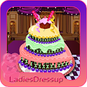 Ice cream cake decoration icon