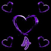 Purple Hearts Xperien Theme