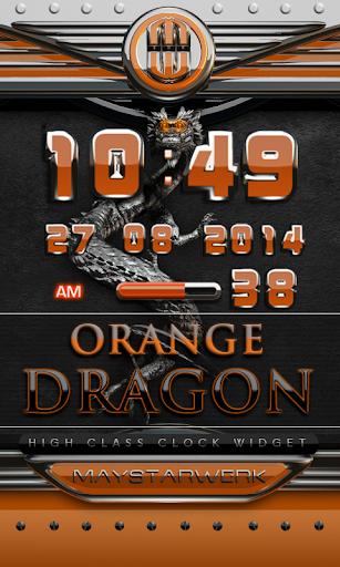 dragon digital clock orange