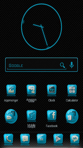 Slick Launcher Theme Cyan