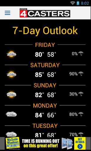 天氣必備APP下載|WDIV Local4Casters Weather 好玩app不花錢|綠色工廠好玩App