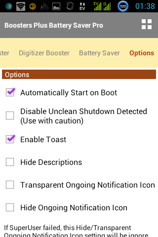 BOOSTERS PLUS BATTERYSAVER PRO- screenshot