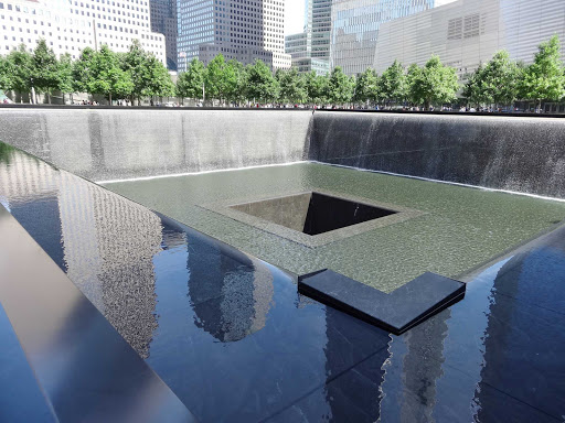 Ground Zero, part of the 9/11 memorial, at Freedom Tower in New York.