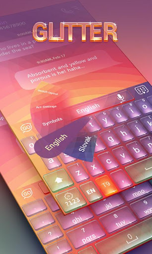 Glitter Keyboard Theme Emoji