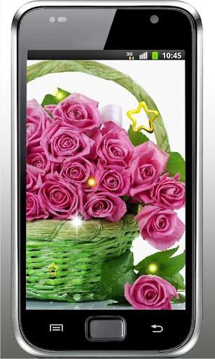 Pink Rose Love live Wallpaper
