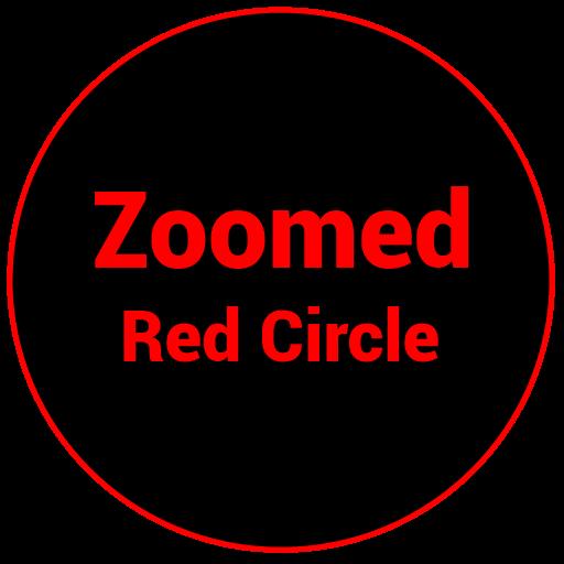 Zoomed Red Circle 個人化 LOGO-阿達玩APP