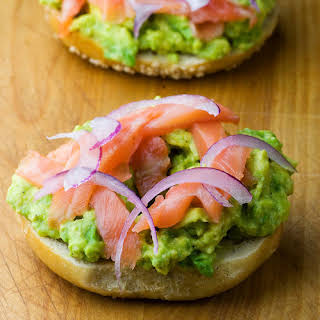 Bagel, Lox and Avocado.