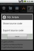 Screenshot of SQL Console