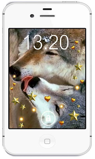 Love of Wolf live wallpaper
