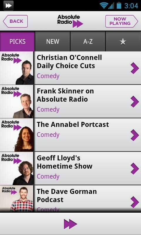 Absolute Radio 70s - screenshot