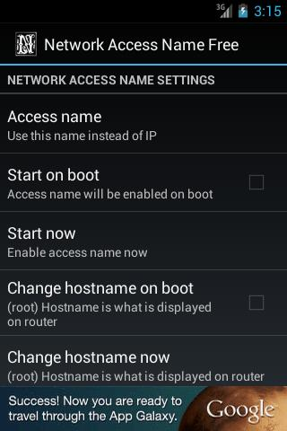 Network Access Name Free - screenshot