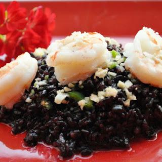 Forbidden Rice with Shrimp.