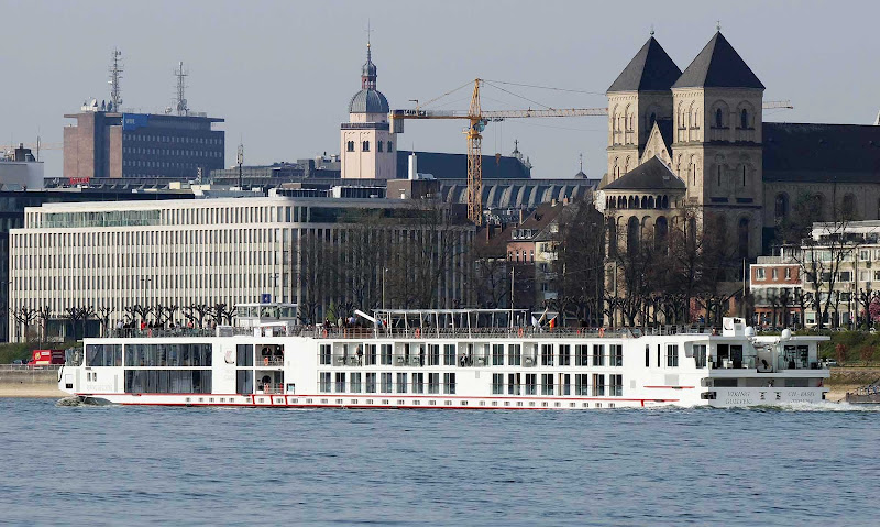 Viking Gullveig sails in Cologne, Germany.