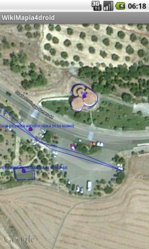 WikiMapia for Droid - screenshot