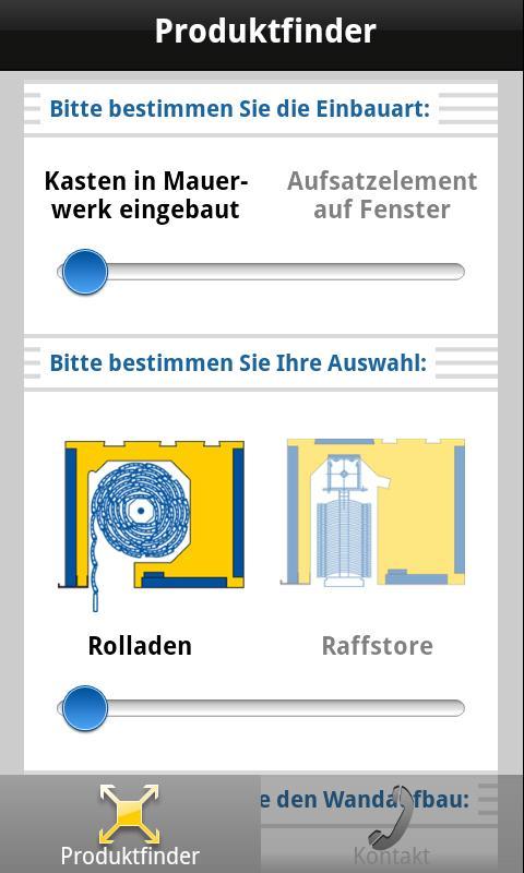 Günthner FLEXI Produktfinder- screenshot