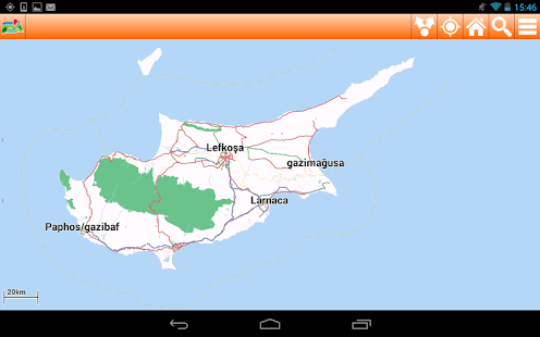 Cyprus Offline mappa Map - screenshot thumbnail