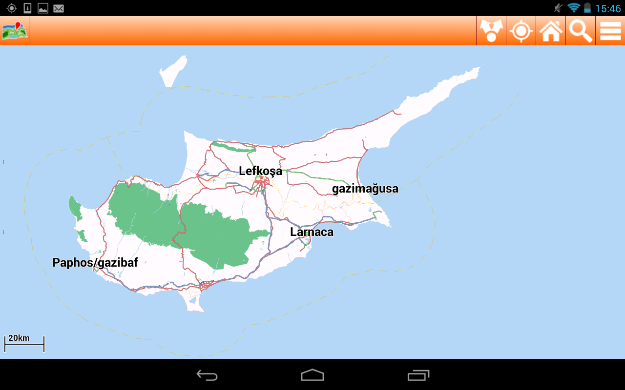 Cyprus Offline mappa Map - screenshot