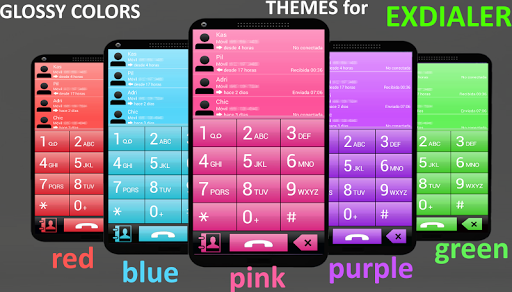 THEME FOR EXDIALER GLASS RED