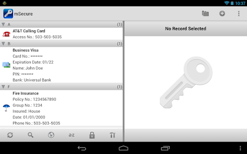 mSecure Password Manager Screenshot 30