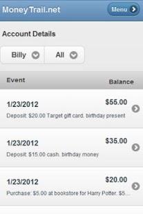 MoneyTrail Allowance Tracker- screenshot thumbnail